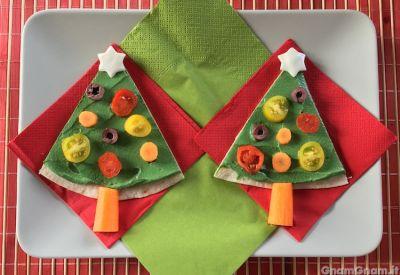 Alberi di Natale con piadina