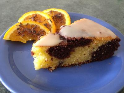 Torta all'arancia e al cioccolato