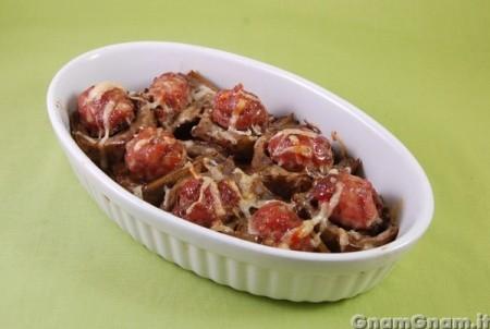 Carciofi ripieni di salsiccia