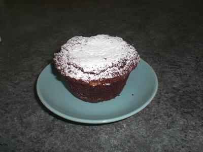 Muffin alla mandorla e cioccolato