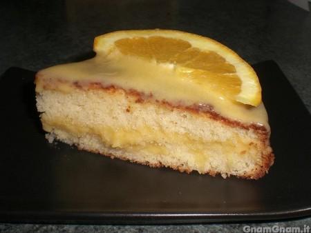 Torta al limone con crema all'arancia