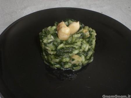 Risotto spinaci e nocciole