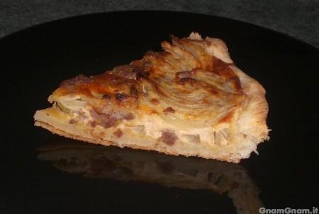 Torta salata con finocchi e salsicce