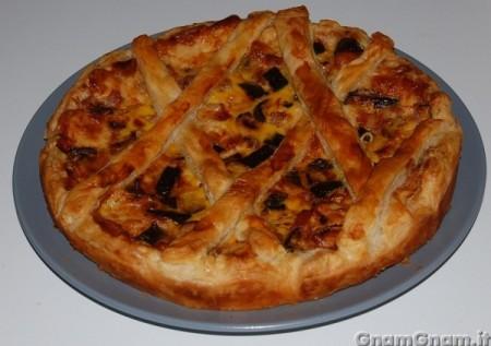 Torta salata con zucchine e pancetta