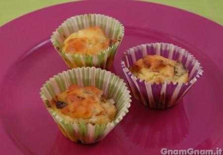 Muffin salati alle melanzane