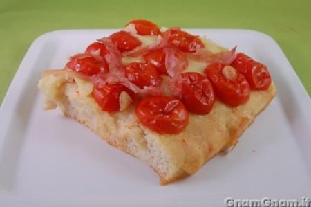 Pizza pomodorini e provola