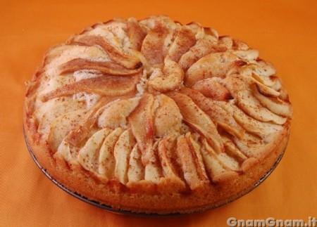 Torta di mele e pere senza uova