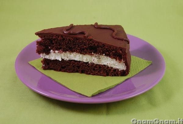 Ed ecco una fetta della mia torta kinder delice. )