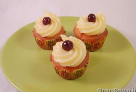 Muffin crema e amarena