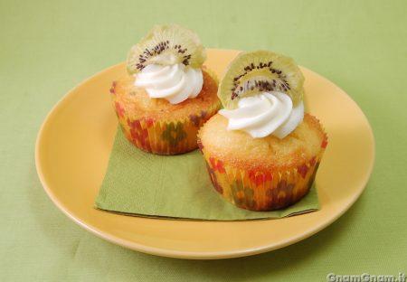 Muffin kiwi e cioccolato bianco