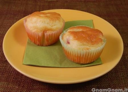 Muffin salati con pancetta
