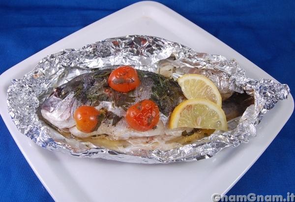Ricette pesce orata al cartoccio