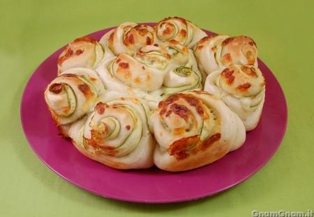 Roselline di pizza alle zucchine