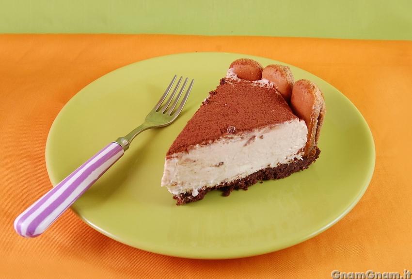Cheesecake al tiramisu la ricetta di gnam gnam for Ricette bimby dolci