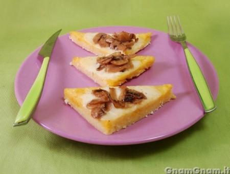 Crostini di polenta ai funghi