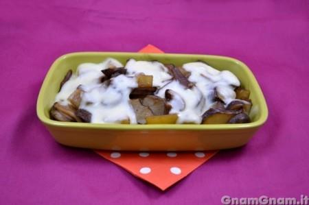 Topinambur con patate e funghi