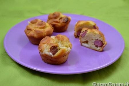Muffin salati wurstel e patatine