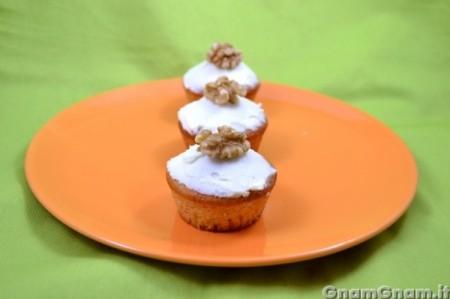 Muffin alla zucca glassati
