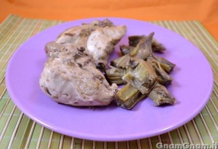 Pollo ai carciofi