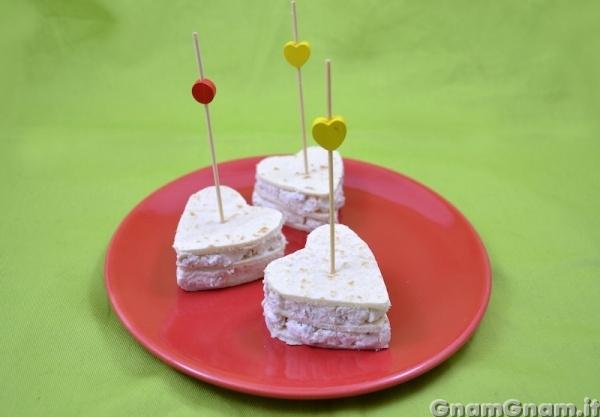 Antipasto di san valentino veloce la ricetta di gnam gnam for Pensierini di san valentino