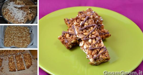 Barrette ai cereali fatte in casa la ricetta di gnam gnam for Aggiungere ai piani di casa