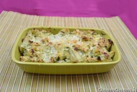 Pasticcio di pasta con ricotta e broccoli