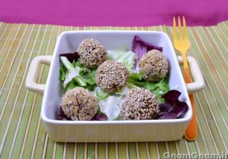 Polpette di tofu e funghi