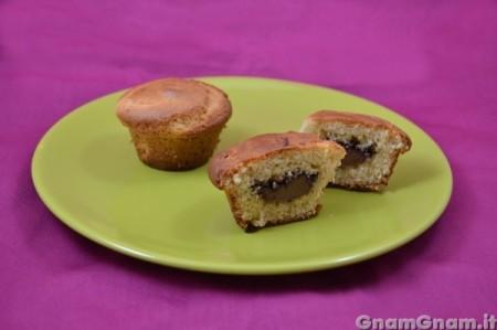 Muffin ricotta e nutella