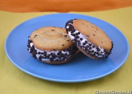 Cookie snack gelato