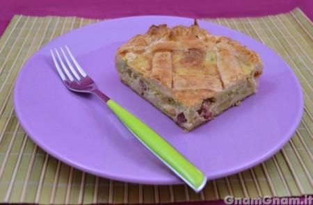 Torta salata fave e prosciutto