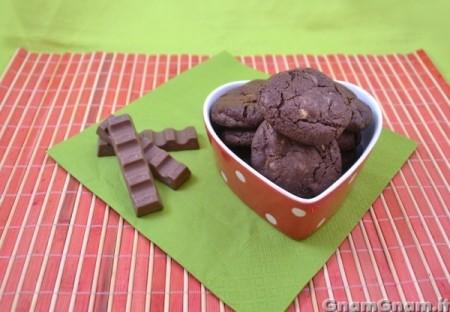 Cookies con cioccolato kinder