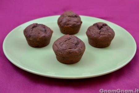 Muffin cacao e banane senza uova