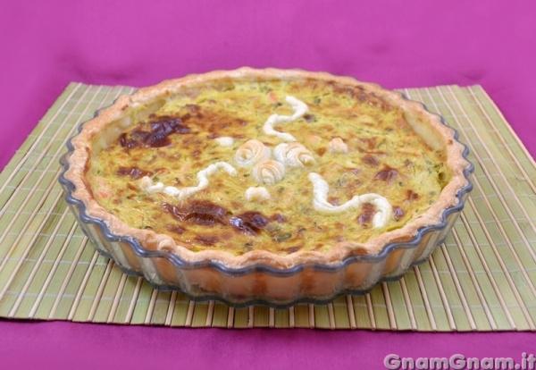 Ricetta Quiche Salmone E Zucchine.Torta Salata Salmone E Zucchine La Ricetta Di Gnam Gnam