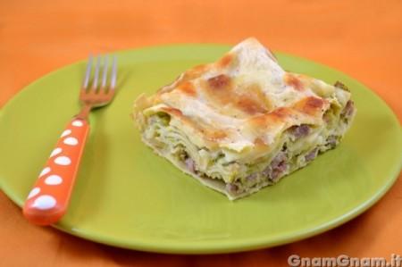 Lasagne con zucchine e salsicce