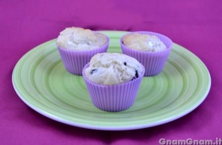 Muffin feta e olive senza uova