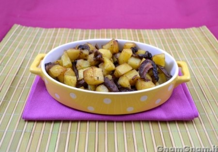 Funghi e patate in padella