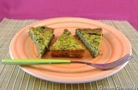Frittata di spinaci e ricotta al forno