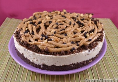 Cheesecake al burro d'arachidi