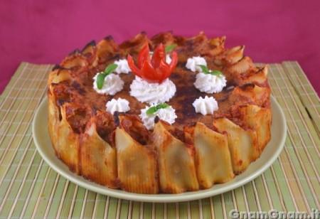 Torta di compleanno salata