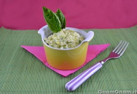 Risotto con zucchine e philadelphia