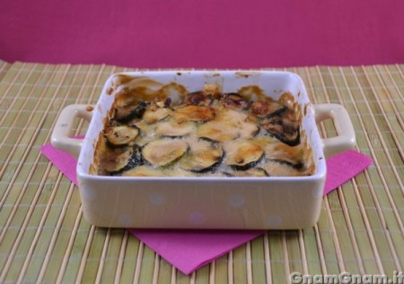 Parmigiana di zucchine e salmone