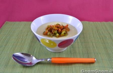 Zuppa fredda di patate e peperoni