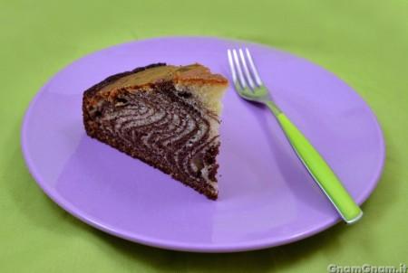 Zebra cake bimby