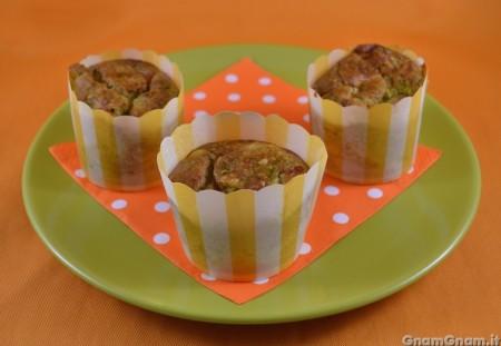 Muffin broccoli e salame