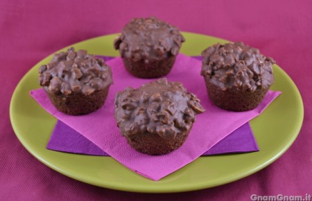 Muffin ferrero rocher