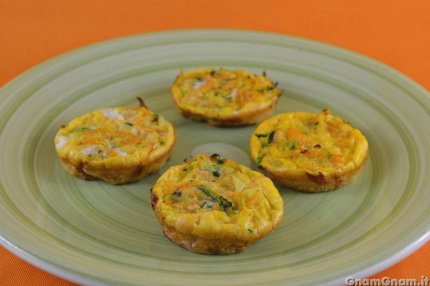 Frittatine di verdure al forno la ricetta di gnam gnam for Ricette con verdure