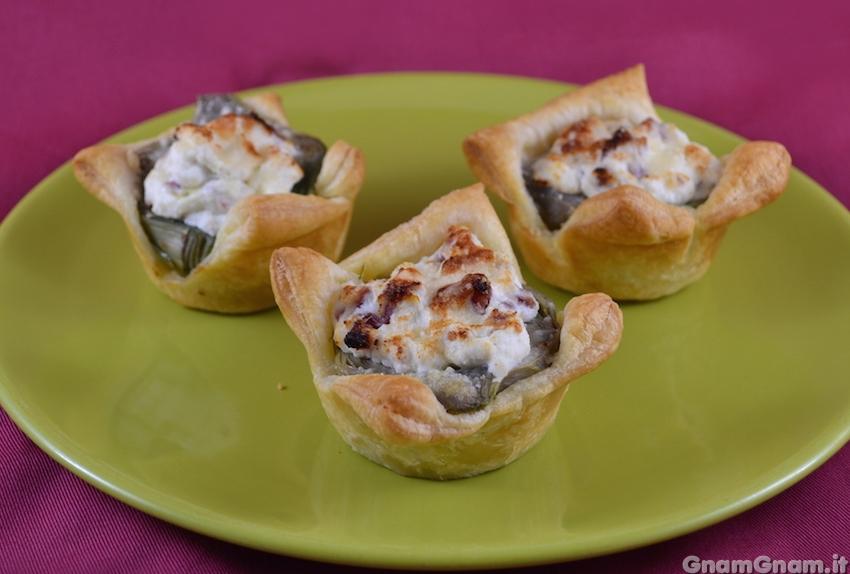 Cestini di sfoglia ai carciofi la ricetta di gnam gnam for Ricette con carciofi