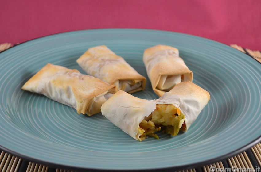 Involtini di gamberi e verdure la ricetta di gnam gnam for Ricette cinesi