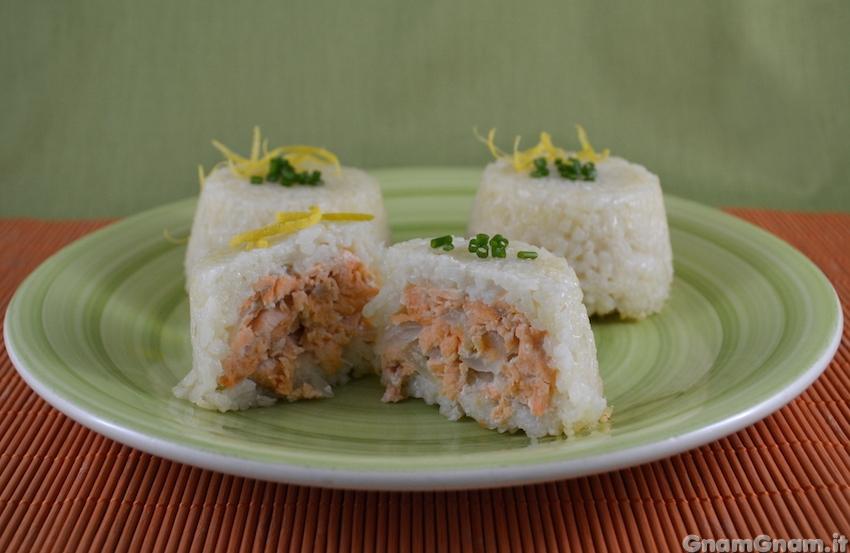 Sformatini di riso al salmone