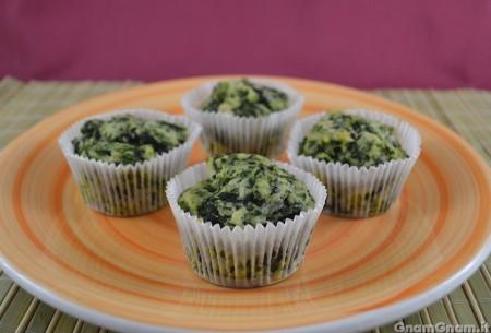 Muffin salati ricotta e spinaci